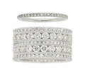 Estate Jewelry:Rings, Diamond, Platinum, White Gold Eternity Bands. ... (Total: 2 Items)