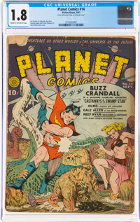 Planet Comics #14 (Fiction House, 1941) CGC GD- 1.8 Cream to off-white pages