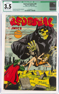 Red Seal Comics #20 (Chesler, 1947) CGC Qualified VG- 3.5 Cream to off-white pages