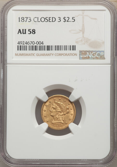 1873 $2 1/2 Closed 3 58 NGC