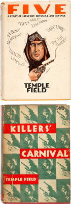 Temple Field [Pseudonym of Raoul Whitfield, also known as Ramon Decolta]. Two Temple Field Mysteries. New