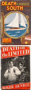 Books:Mystery & Detective Fiction, Roger Denbie. Set of Two Dr. Quentin Pace Mysteries. New York: William Morrow & Company, 1933-1934. First Editions. ... (Total: 2 )
