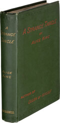 Books:Mystery & Detective Fiction, Alice King. A Strange Tangle. London: John and Robert Maxwell, [1887]. First Edition....