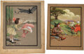 """Books:Original Art, Sarah Noble Ives (American Artist and Illustrator, 1864-1944). Group of Two Original Paintings. """"Tom, Tom, the pipers son, He ... (Total: 3 Items)"""