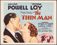 "The Thin Man (MGM, R-1962). Folded, Very Fine+. Half Sheet (22"" X 28""). Mystery"