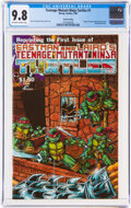 Modern Age (1980-Present):Alternative/Underground, Teenage Mutant Ninja Turtles #1 Fourth Printing (Mirage Studios, 1985) CGC NM/MT 9.8 Off-white to white pages....