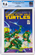 Modern Age (1980-Present):Alternative/Underground, Teenage Mutant Ninja Turtles #4 Second Printing (Mirage Studios, 1987) CGC NM+ 9.6 White pages....