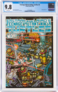 Modern Age (1980-Present):Alternative/Underground, Teenage Mutant Ninja Turtles #5 (Mirage Studios, 1985) CGC NM/MT 9.8 White pages....
