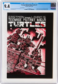 Modern Age (1980-Present):Alternative/Underground, Teenage Mutant Ninja Turtles #1 Second Printing (Mirage Studios, 1984) CGC NM 9.4 White pages....
