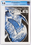 Modern Age (1980-Present):Alternative/Underground, Teenage Mutant Ninja Turtles #2 (Mirage Studios, 1984) CGC NM/MT 9.8 Off-white to white pages....
