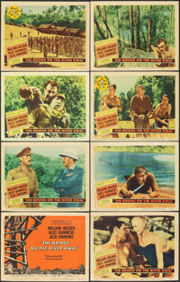 """The Bridge on the River Kwai (Columbia, 1958). Overall: Fine/Very Fine. Lobby Card Set of 8 (11"""" X 14""""). War..."""