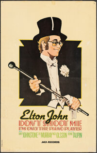 """Don't Shoot Me I'm Only the Piano Player by Elton John (MCA Records, 1973). Rolled, Fine. Album Poster (30"""" X 40&qu..."""
