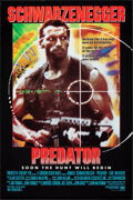 """Movie Posters:Science Fiction, Predator (20th Century Fox, 1987). Rolled, Very Fine+. One Sheet (27"""" X 41"""") SS Advance. Science Fiction.. ..."""