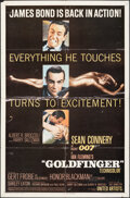 "Movie Posters:James Bond, Goldfinger (United Artists, 1964). Folded, Fine-. One Sheet (27"" X 41"") Glossy Style. James Bond.. ..."