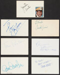 Movie/TV Memorabilia:Autographs and Signed Items, Mork & Mindy Collection of Signatures (7). ...