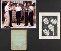 Music Memorabilia:Autographs and Signed Items, Del Vikings/Four Esquires Signed Items (2)....