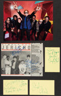 Music Memorabilia:Autographs and Signed Items, Simply Red Collection of Signatures (4). ...