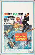 "Movie Posters:James Bond, On Her Majesty's Secret Service (United Artists, 1970). Folded, Fine/Very Fine. Window Card (14"" X 22"") Frank McCarthy Artwo..."
