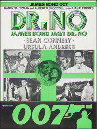 "Dr. No (United Artists, R-1970s). Folded, Very Fine. Poster (23.5"" X 31.5""). James Bond"