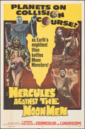"Movie Posters:Fantasy, Hercules Against the Moon Men (Governor Films, 1965). Folded, Very Fine. One Sheet (27"" X 41""). Fantasy.. ..."
