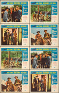 """Movie Posters:Western, Bend of the River (Universal International, R-1958). Overall: Very Fine-. Lobby Cards (8) (11"""" X 14""""). Western.. ... (Total: 8 Items)"""