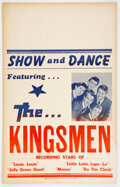 """Music Memorabilia:Posters, The Kingsmen 1965 Boxing-Style Concert Poster with """"Louie Louie.""""..."""