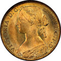 Great Britain, Great Britain: Victoria Penny 1860 MS67 Red and Brown NGC,...