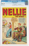 Golden Age (1938-1955):Romance, Nellie the Nurse #17 (Timely, 1949) CGC FN+ 6.5 Off-white to white pages....