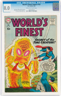 Silver Age (1956-1969):Superhero, World's Finest Comics #107 (DC, 1960) CGC VF 8.0 Cream to off-white pages....