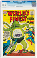 Silver Age (1956-1969):Superhero, World's Finest Comics #110 (DC, 1960) CGC VF+ 8.5 Off-white pages....