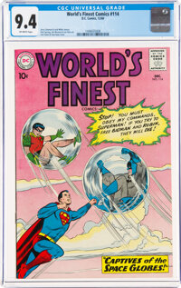 World's Finest Comics #114 (DC, 1960) CGC NM 9.4 Off-white pages