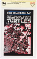 Modern Age (1980-Present):Alternative/Underground, Teenage Mutant Ninja Turtles #1 Limited Edition - Verified Signature: Peter Laird (Mirage Studios, 2005) CBCS NM+ 9.6 White pa...