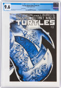 Modern Age (1980-Present):Alternative/Underground, Teenage Mutant Ninja Turtles #2 Second Printing (Mirage Studios, 1985) CGC NM+ 9.6 White pages....