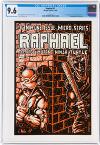 Raphael Teenage Mutant Ninja Turtle #1 (Mirage Studios, 1985) CGC NM+ 9.6 Off-white to white pages