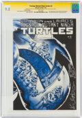 Modern Age (1980-Present):Alternative/Underground, Teenage Mutant Ninja Turtles 2 Second Printing - Signature Series (Mirage Studios, 1985) CGC NM/MT 9.8 White pages....