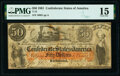 Confederate Notes:1861 Issues, T15 $50 1861 PF-1 Cr. 79 PMG Choice Fine 15.. ...