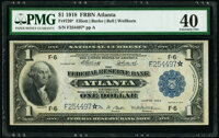 Fr. 726* $1 1918 Federal Reserve Bank Note PMG Extremely Fine 40