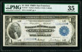 Large Size:Federal Reserve Bank Notes, Fr. 744* $1 1918 Federal Reserve Bank Note PMG Choice Very Fine 35.. ...