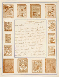 """L. Frank Baum. Holograph Letter in the Hand of Maud Gage Baum, Signed by Frank, to the Future """"Royal Historian of O..."""