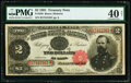 Fr. 358 $2 1891 Treasury Note PMG Extremely Fine 40 Net