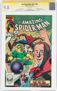 The Amazing Spider-Man #248 Signature Series: Stan Lee and John Romita Jr. (Marvel, 1984) CGC NM/MT 9.8 White pages