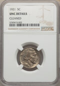 Buffalo Nickels, 1921 5C -- Cleaned -- NGC Details. Unc. Mintage 10,663,000....