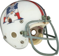 1973-75 John Hannah Game Worn New England Patriots Helmet - Rookie Era!