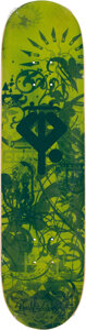Collectible, Ryan McGinness (b. 1972). Growing Handplants, 2007. Screenprint in colors on skate deck. 32 x 8 inches (81.3 x 20.3 cm)...