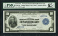 Large Size:Federal Reserve Bank Notes, Fr. 817a1 $10 1915 Federal Reserve Bank Note PMG Gem Uncirculated 65 EPQ.. ...