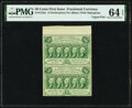 Fr. 1310a 50¢ First Issue Uncut Pair PMG Choice Uncirculated 64 EPQ