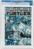 Modern Age (1980-Present):Alternative/Underground, Teenage Mutant Ninja Turtles #3 Variant Cover (Mirage Studios, 1985) CGC NM+ 9.6 White pages....