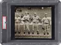 1915-17 Boston Red Sox Pitching Staff with Babe Ruth Original News Photograph, PSA/DNA Type 1