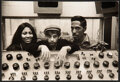 Music Memorabilia:Photos, Ike and Tina Turner with Phil Spector Black and White Photo in the Studio (1966/1967). ...