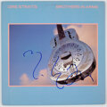Music Memorabilia:Autographs and Signed Items, Mark Knopfler Signed Dire Straits Brothers In Arms Vinyl LP (Warner Bros., 25264-1). ...